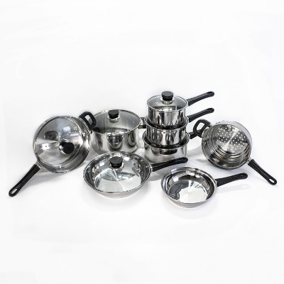 BergHOFF CooknCo 14Pc Stainless Steel Cookware Set