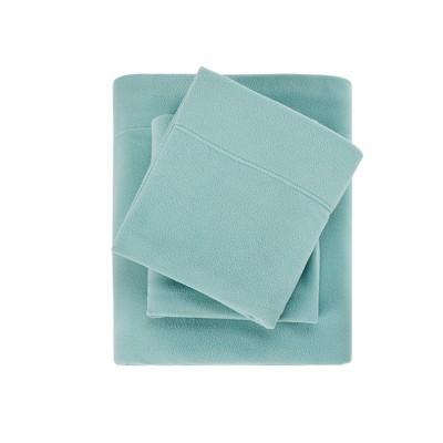 Micro Fleece Solid Brushed Sheet Set (Queen)Aqua