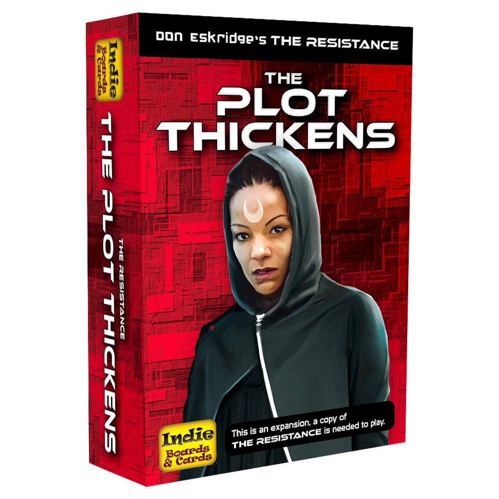 The Plot Thickens Board Game An exciting expansion with three new ways to play The Resistance – The Plot Thickens, Rogue, and Sergeant modules! Also included are a full set of replacement character cards, mission cards, and new mission tracking tokens. Gender: Unisex.