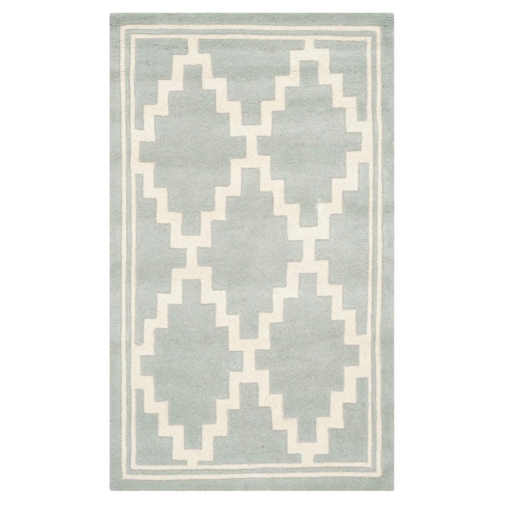 Gray/Ivory Geometric Tufted Accent Rug 3'X5' - Safavieh, Graynivory