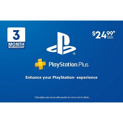 PlayStation Plus 3 Month Membership (Digital)