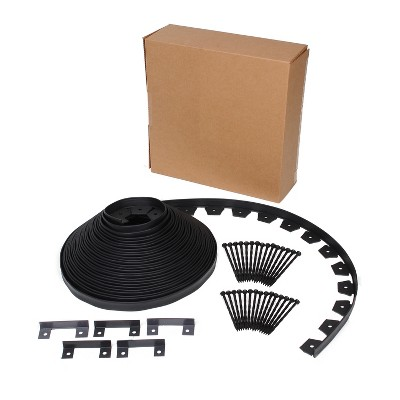 Dimex EasyFlex 3000-90C 90-Foot No-Dig Lawn and Garden Bed Flexible Plastic Edging Kit with 30 Stakes and 5 Connectors, Black