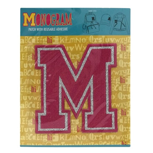 Fashion Assorted Letters M Patch With Reusable Adhesive - image 1 of 1