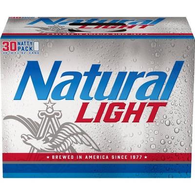 natural light beer 30pk 12 fl oz cans