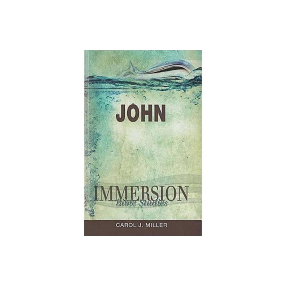 Immersion Bible Studies John Paperback
