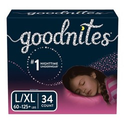 GoodNites® Underwear for Girls Giga Pack (Select Size)