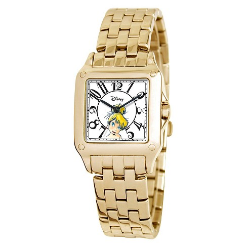 Women's Disney® Tinker Bell Perfect Square Watch - Gold - image 1 of 2