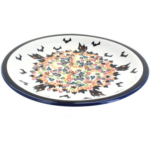 Blue Rose Polish Pottery Haunted House Dinner Plate - image 1 of 1