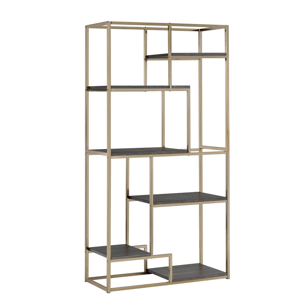 Best Buy 7025 Beverly 6 Shelf Etagere Champagne Beige Homes Inside Out