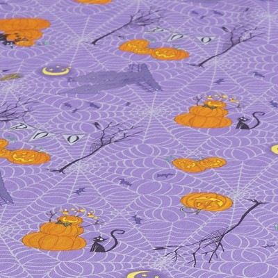 Lakeside Happy Haunting Halloween Holiday Fabric Round Tablecloth - 60""