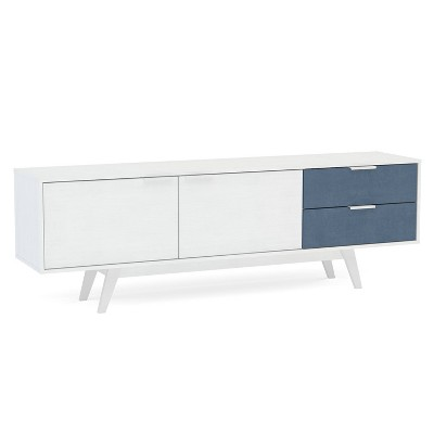 "70"" Fairfield TV Stand White/Navy - Chique"