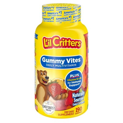 L'il Critters Gummy Vites Complete Multivitamin Gummies - Strawberry, Orange & Cherry