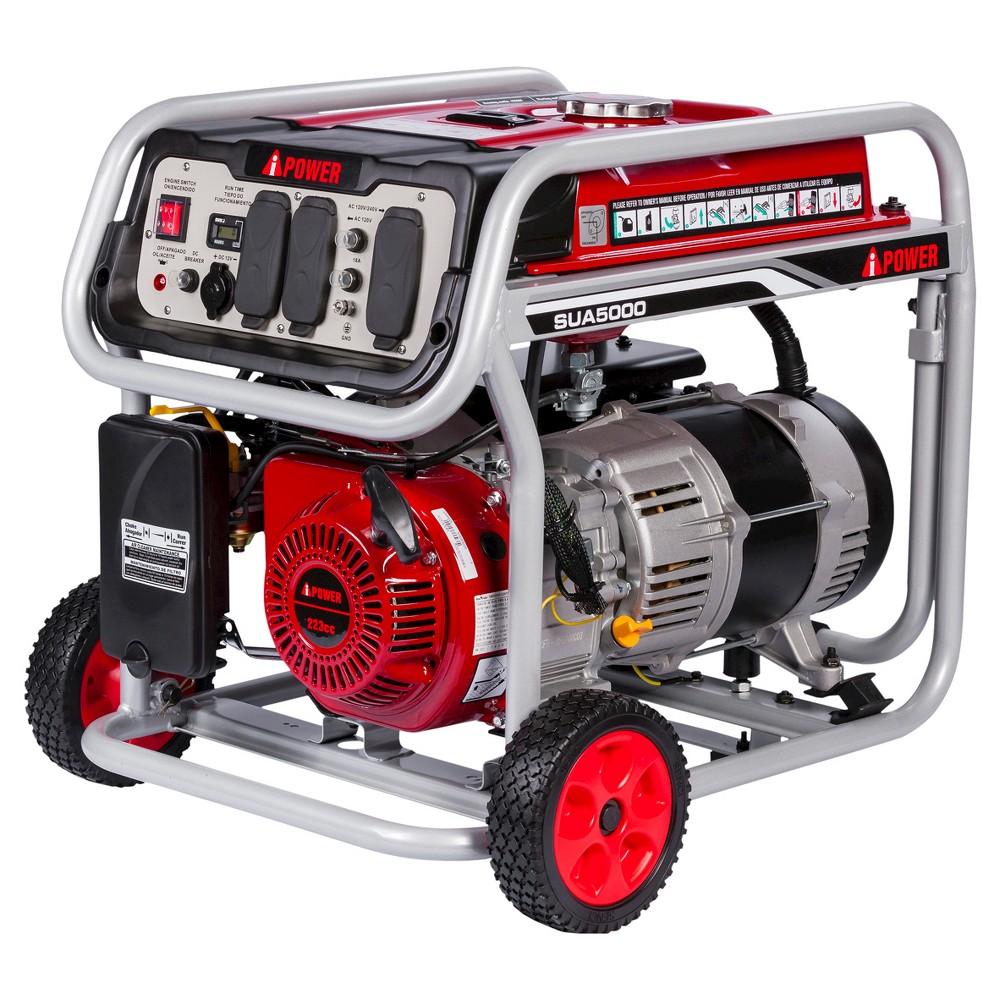 Image of 5000 Watt Gasoline Powered Portable Generator Manual Start - A-iPower