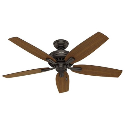 """52"""" Newsome Damp Rated Ceiling Fan Bronze - Hunter"""