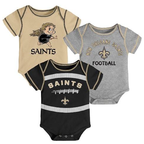 on sale c7b5a 8a1ac NFL New Orleans Saints Baby Boys' Newest Fan 3pk Bodysuit Set - 18M