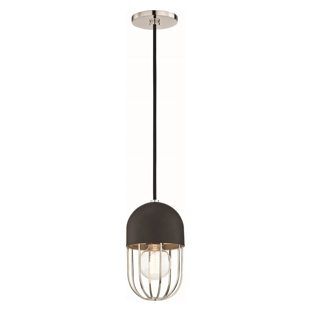 1pc Haley Light Pendant Brushed Nickel - Mitzi by Hudson Valley