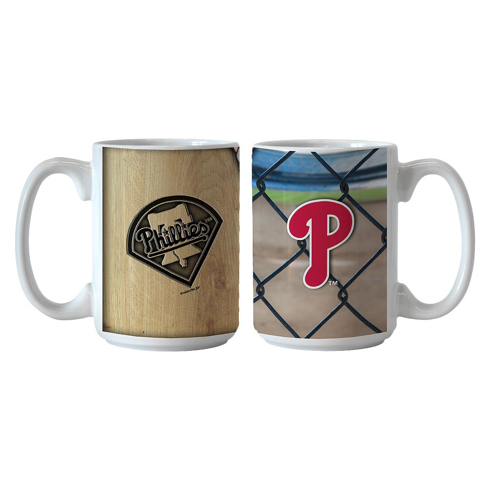 MLB Phillies Ballpark Coffee Mug - Set of 2 - 15oz., Multi-Colored