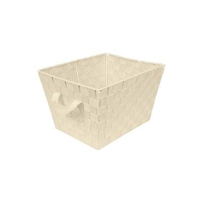 "Simplify Small 10"" Woven Storage Bin Ivory"