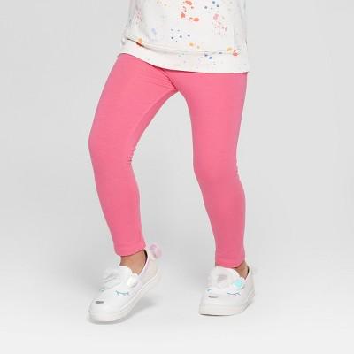 Toddler Girls' Solid Leggings - Cat & Jack™ Pink 12M