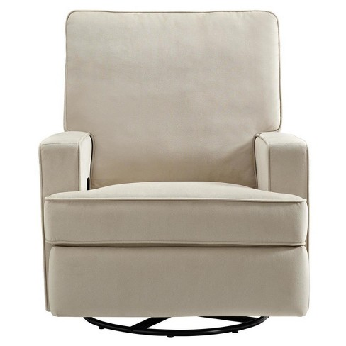 Baby Relax Addison Swivel Gliding Recliner - Beige - image 1 of 7