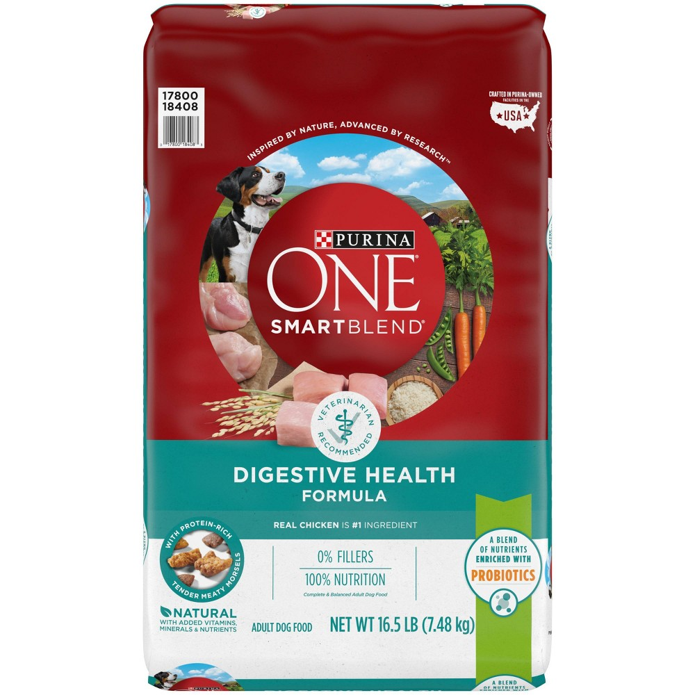 Purina One Smartblend Digestive Health With Probiotics Adult Dry Dog Food 16 5lbs
