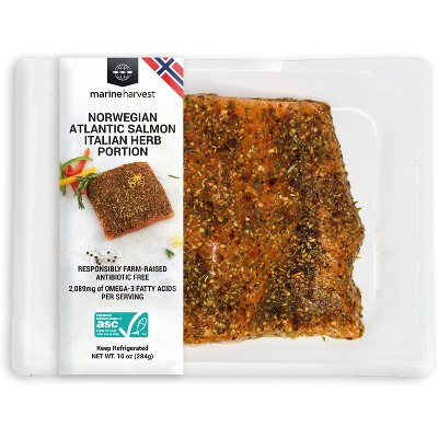 Marine Harvest Farmed Atlantic Salmon Portion Italian Herbs - 10oz