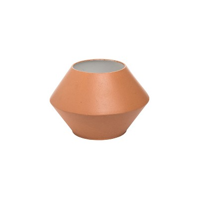 Small Faux Terracotta Metal Decorative Vase - Foreside Home & Garden