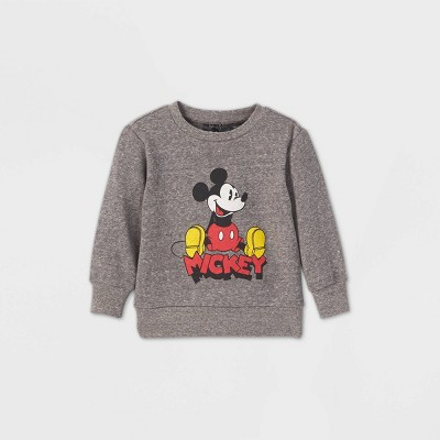 Toddler Boys' Mickey Mouse Limited Edition Fleece Pullover Sweatshirt - Gray