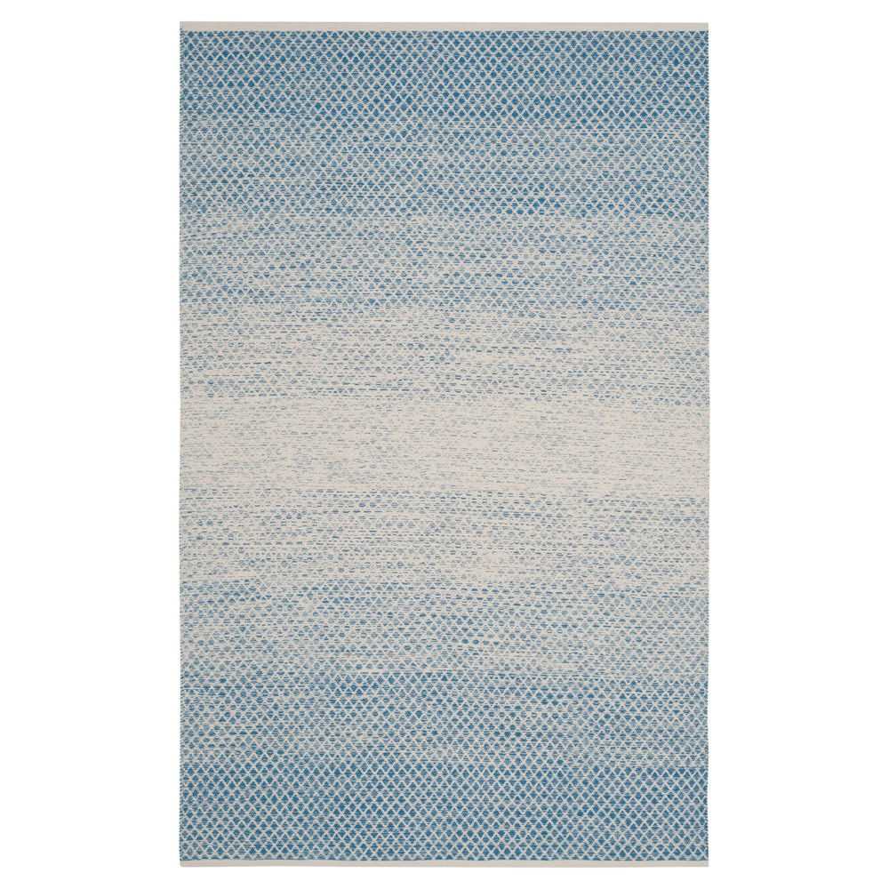 Blue/Ivory Geometric Flatweave Woven Area Rug 6'X9' - Safavieh
