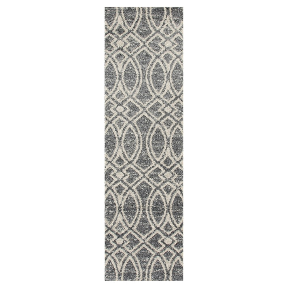 Image of Gray Abstract Woven Runner - (2'X8') - Art Carpet
