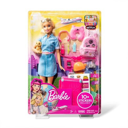 Barbie Travel Doll & Puppy Playset - image 1 of 4