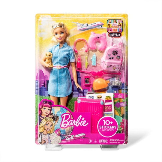 Barbie Travel Doll & Puppy Playset image number null