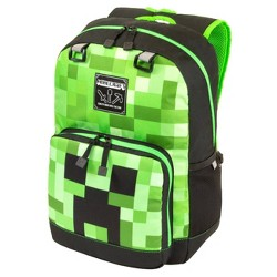 "Minecraft 17"" Kids' Creeper Fade Tier 2 Backpack - Green/Black"