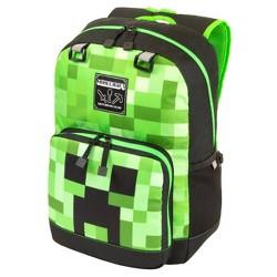 "Minecraft 17"" Kids' Creeper Fade Tier 2 Backpack - Green/Black"