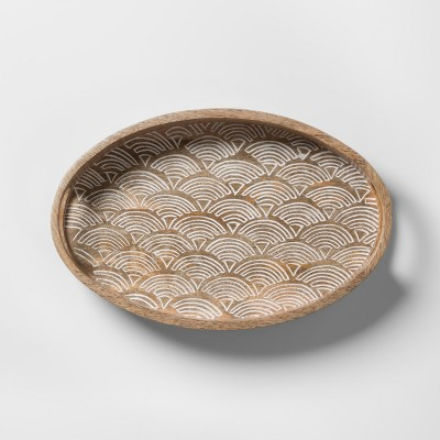 Carved Wood Tray - Opalhouse™
