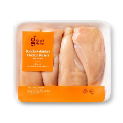 Boneless & Skinless Chicken Breasts - 1.65-3.975 lbs - price per lb - Good & Gather™