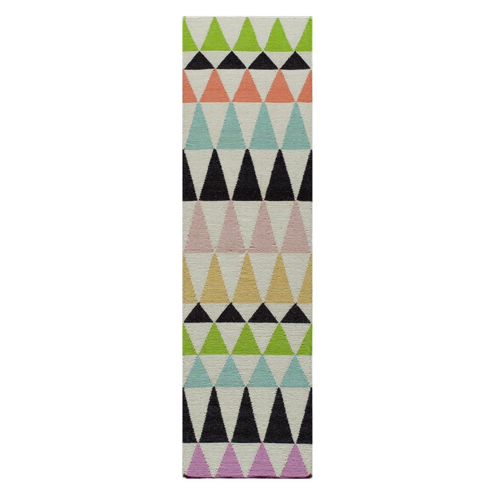 2'3X8' Geometric Woven Runner - Momeni, Multi-Colored