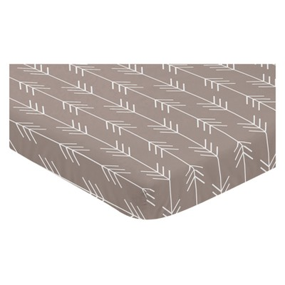 Sweet Jojo Designs Mini Fitted Sheet White - Outdoor Adventure Arrow