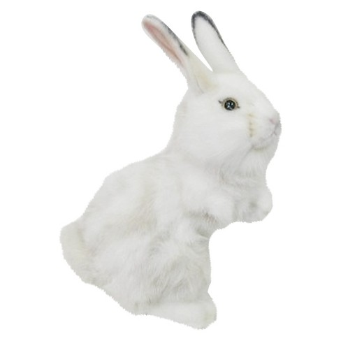Hansa Gray And White Bunny Upright Plush Animal Target
