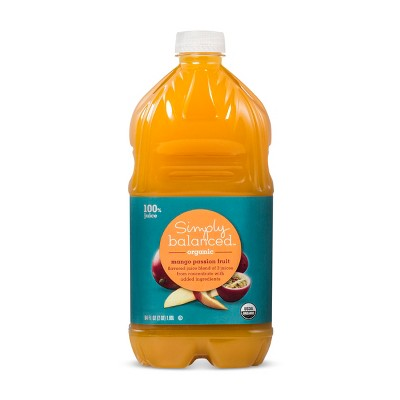 Organic Mango Passion Fruit Flavored Juice Blend - 64 fl oz Bottle - Simply Balanced™