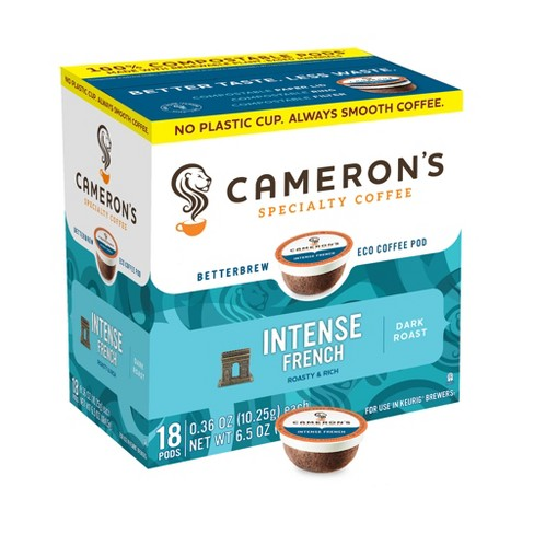 Cameron's Intense French Dark Roast Coffee - Single Serve Pods - 18ct - image 1 of 1