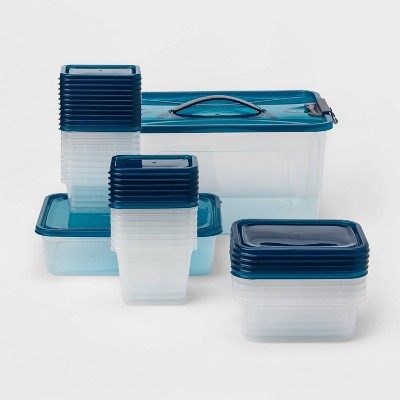 50pc Food Storage Container Set Blue - Room Essentials™