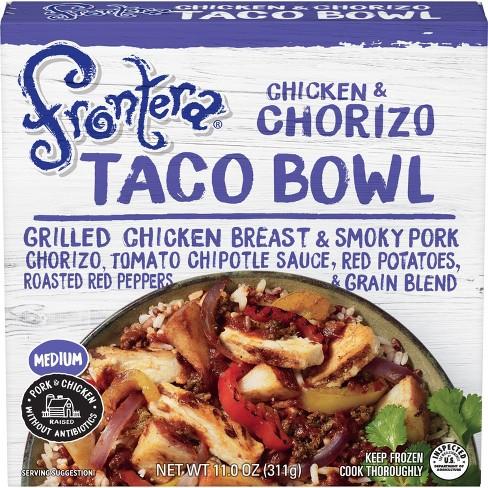 Frontera Frozen Chicken and Chorizo Taco Bowl - 11oz - image 1 of 3