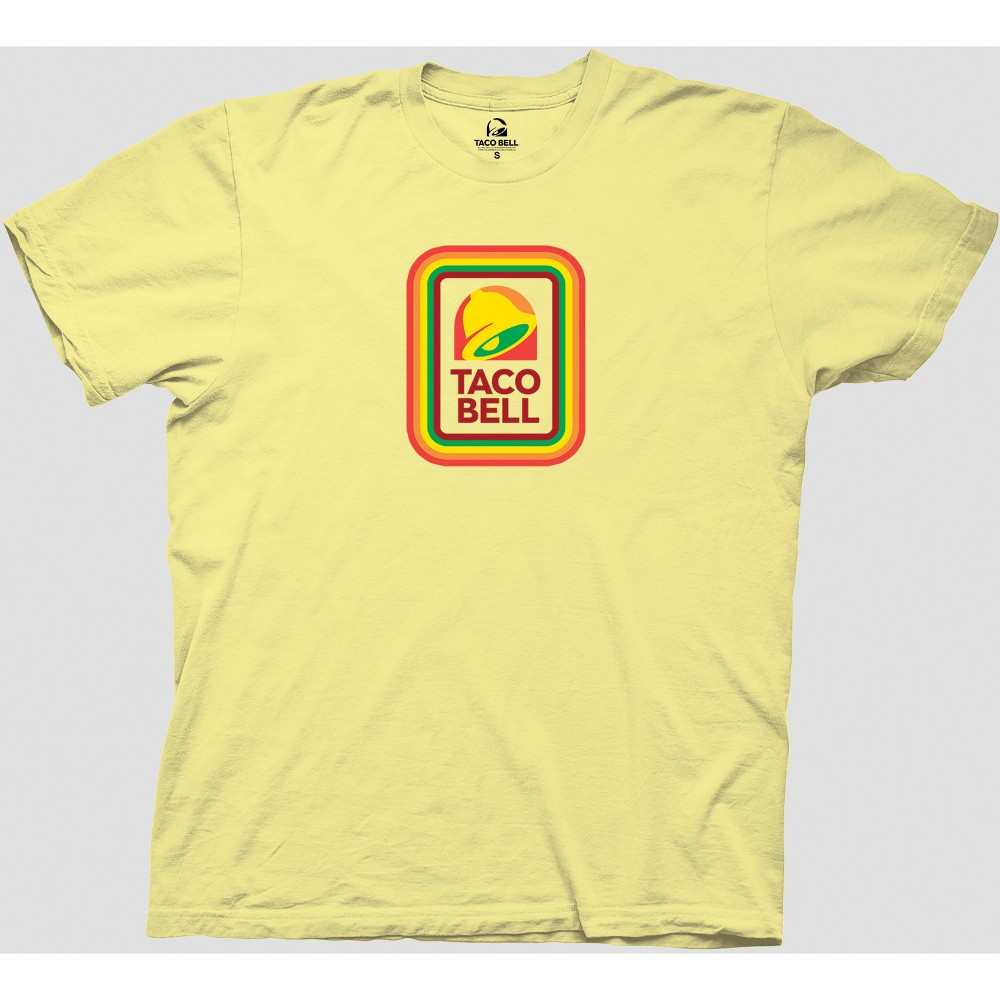 Image of Men's Taco Bell Short Sleeve Graphic T-Shirt - Yellow 2XL