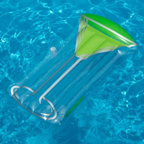 Swimline Inflatable Green Appletini Raft Float Mat For Swimming Pool ...