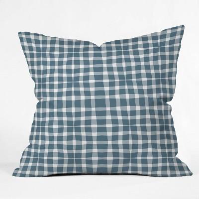 "16""x16"" Lisa Argyropoulos Modern Plaid Throw Pillow Blue - Deny Designs"