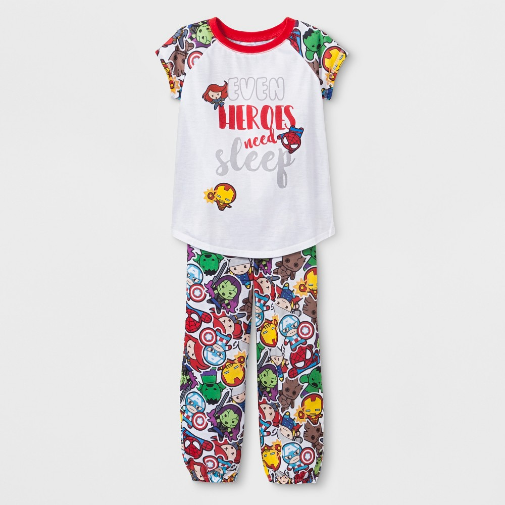 Girls' Marvel Kawaii 2pc Pajama Set - M, Multicolored