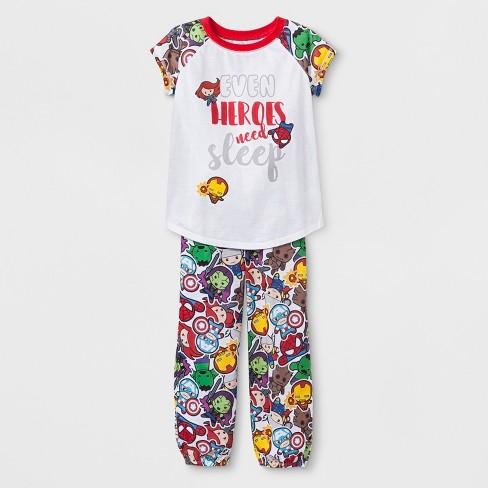 d41c65fa951d Girls  Marvel Kawaii 2pc Pajama Set   Target