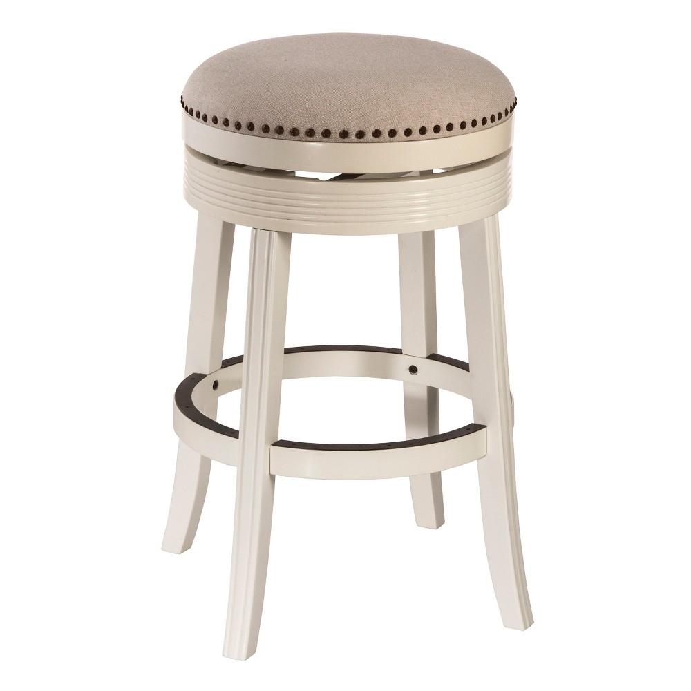 30 Tillman Backless Swivel Bar Stool White/Beige - Hillsdale Furniture