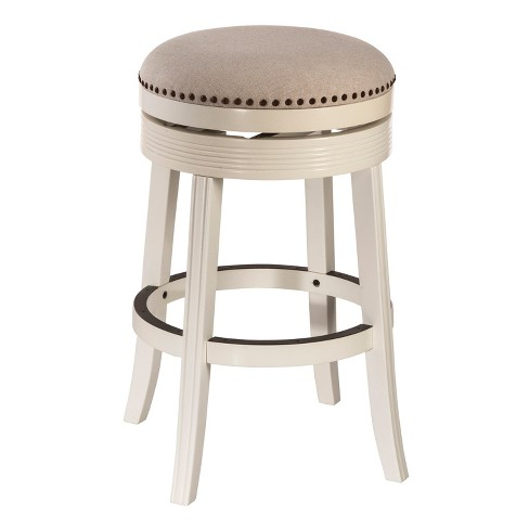 Enjoyable 30 Tillman Backless Swivel Bar Stool White Beige Hillsdale Furniture Andrewgaddart Wooden Chair Designs For Living Room Andrewgaddartcom